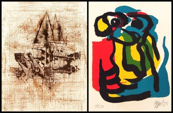 15: Karel Appel & Johnny Friedlaender (three)