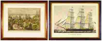 74 after Currier  Ives Publishers 19th Century two