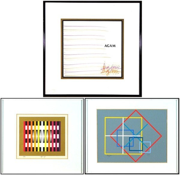 2: Yaacov Agam (b. 1928) Israeli (three)