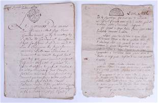 Antique French Manuscript or Document (two)