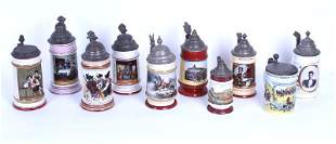 Vintage Beer Steins (ten)