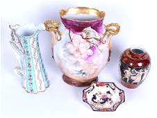Dresden, Limoges & English Porcelains (four)