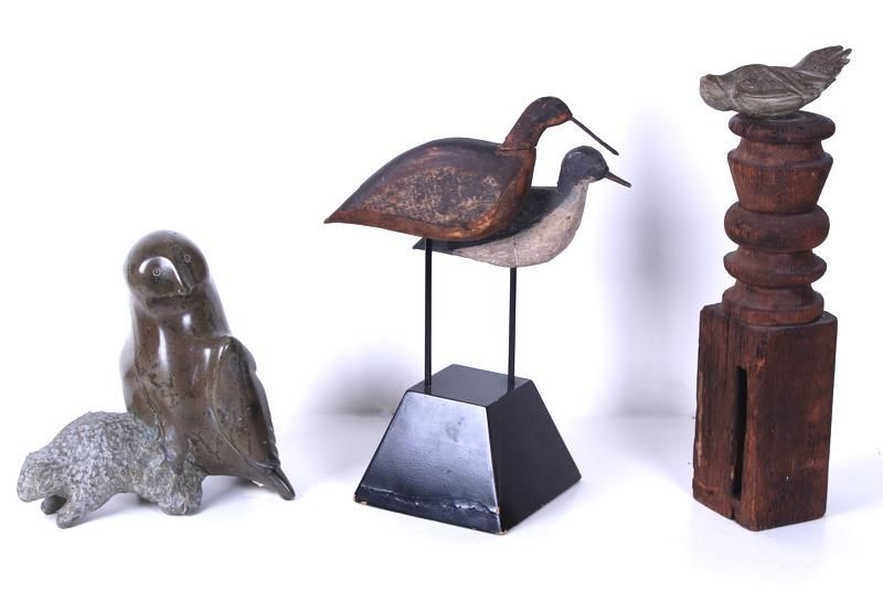 Inuit Sculpture & Folk Art (three)