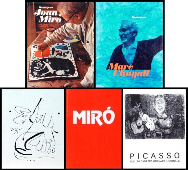 17: Art Books and Catalogues: Marc Chagall, Joan Miro,