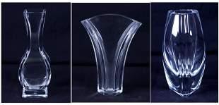 Baccarat Crystal (three)