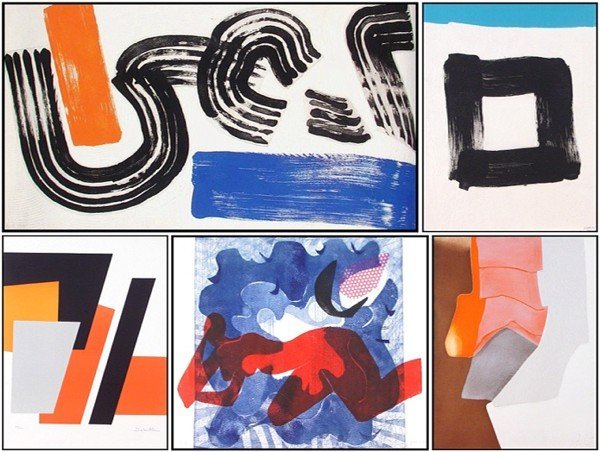 3: Abstract print collection (five)
