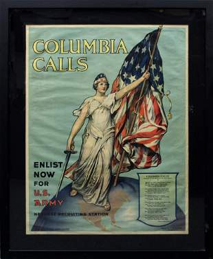 WWI War Poster by Frances Adams Halsted (19th/ 20th