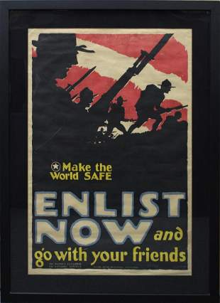 WWI War Poster by Arthur Edrop (19th/ 20th Century)