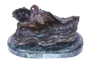 Art Nouveau Style Bronze E. Villanis