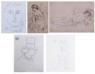 Pablo Picasso; Pierre-Auguste Renoir (2); Edouard Manet;