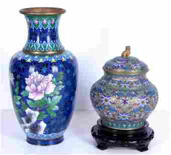 Asian Cloisonne & Champleve (two)