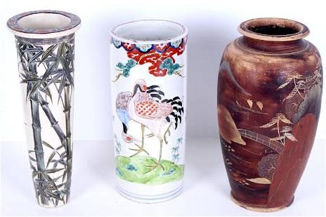 Asian Pottery (three)