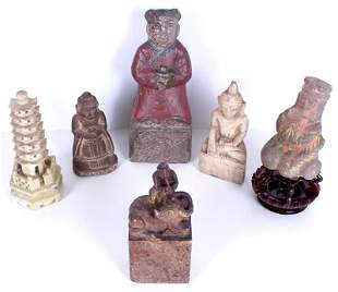Chinese Ancient to Antique Stone Carvings (six)