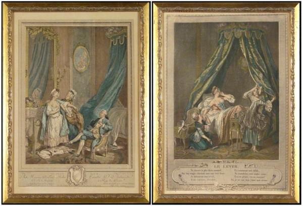 12: Antique prints (two)