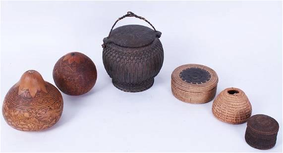 Baskets & Gourds (six)