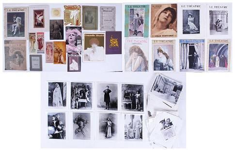 Sarah Bernhardt 19th/ 20th ephemera collection (200+)