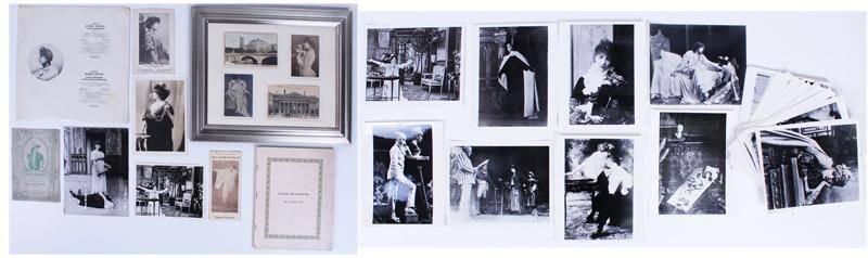 Sarah Bernhardt late 19th/ early 20th Century ephemera