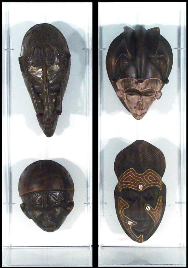 1: African Masks (two)