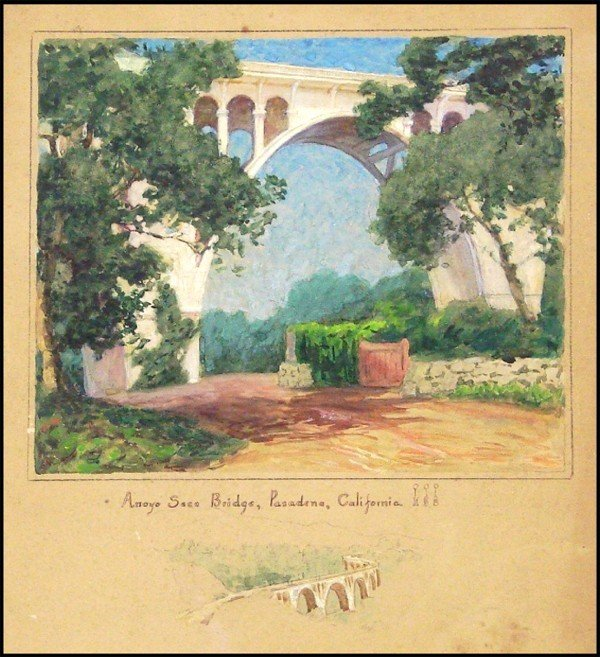 12: Antique California Watercolor