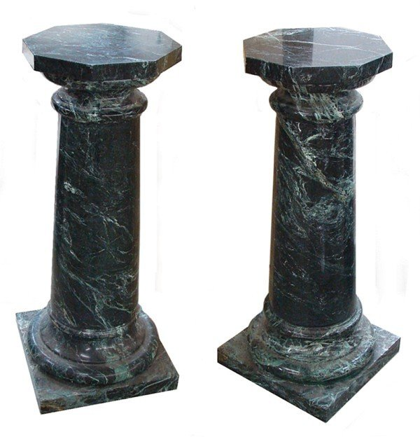 101: Decorative Arts: Marble Pedestal (two)