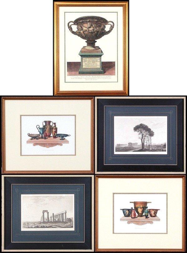 108: Decorative Arts: prints (five)