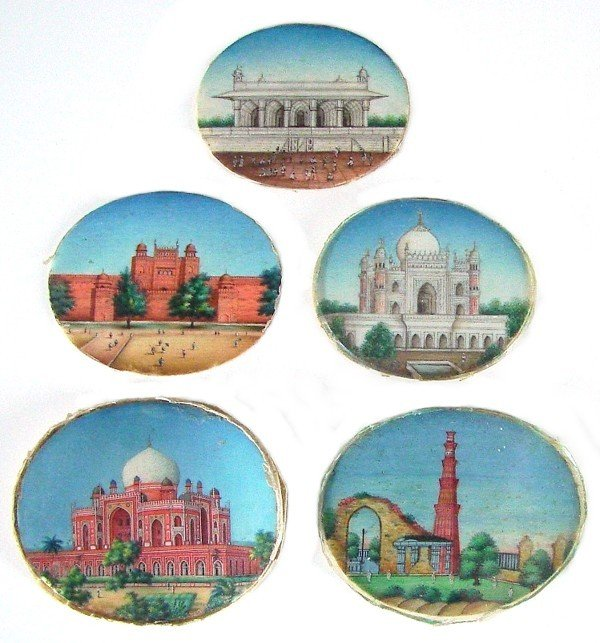 46: Decorative Arts: Miniature Paintings on Ivory (18th