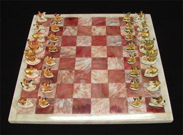 Decorative Arts Persian Chess Set 20th Century