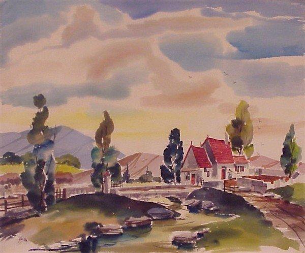 410: American Watercolorist (20th Century)