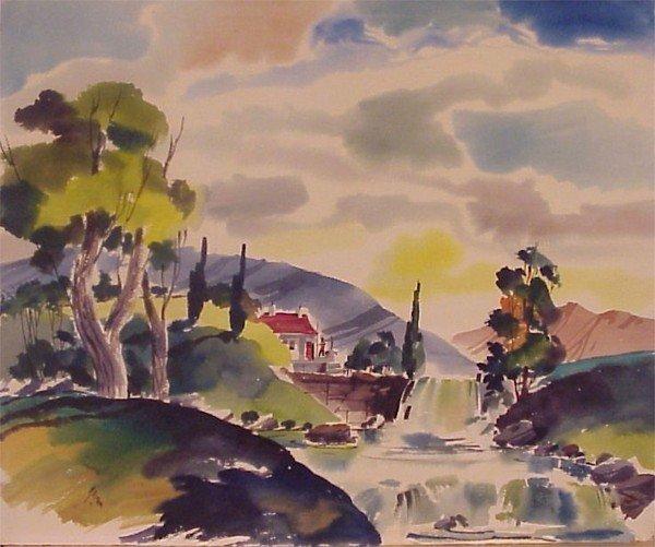 411: American Watercolorist (20th Century)