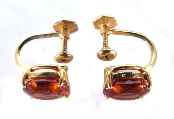 153: Jewelry: Citrine in 18K yellow gold (mid-century)