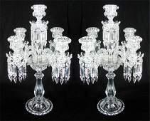 76: Decorative Arts: Baccarat Crystal Candelabras (two)
