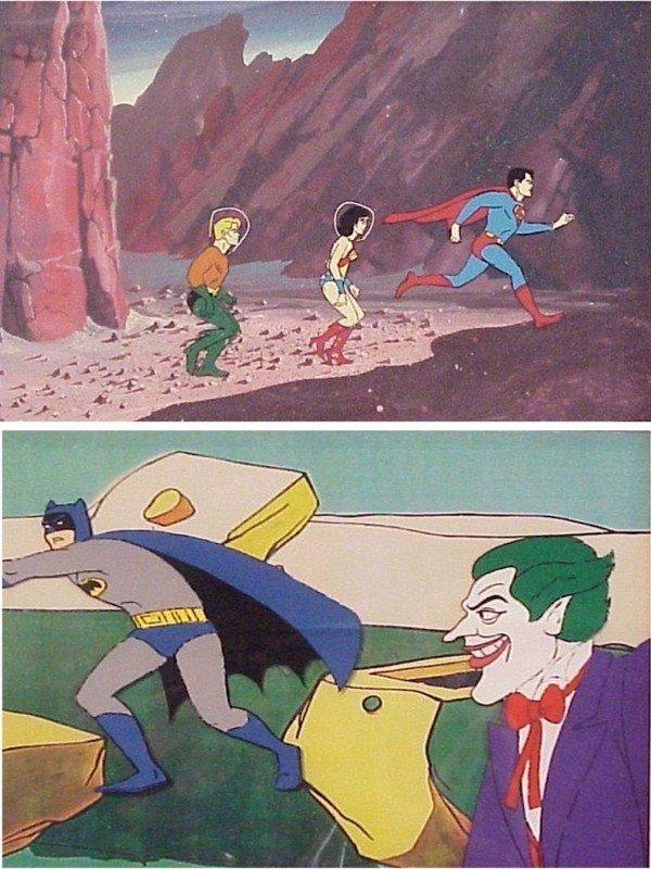 7: Animation Cels: Batman & The Justice League (two)