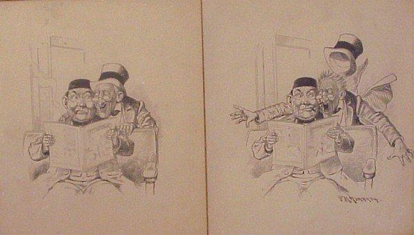 14: Comic illustration: F. M. Howarth (early 20th Centu