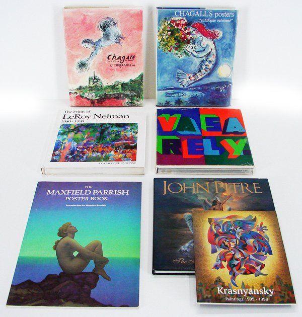 31: Art Books: Chagall Catalogue Raisonnes (2), Neiman,