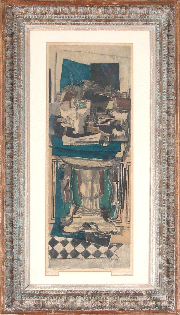 45: after Georges Braque (1882-1963) by Jacque Villon