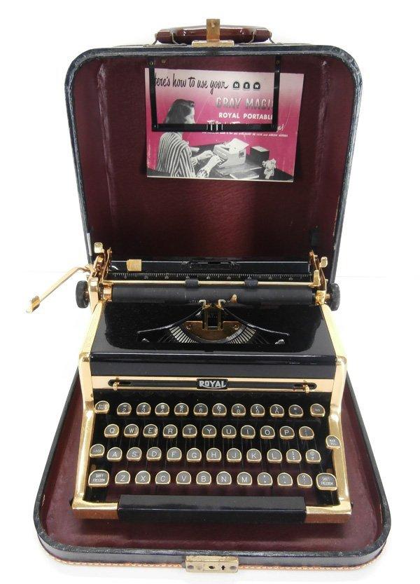 48: Decorative Art: Royal Traveler Portable Typewriter