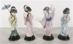 Lladro Porcelains (four)