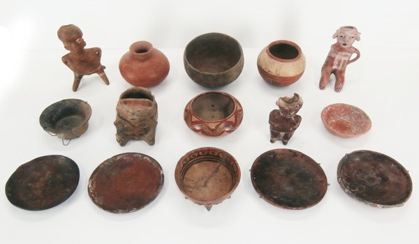 Pre-Columbian & style of, Pottery (fifteen)