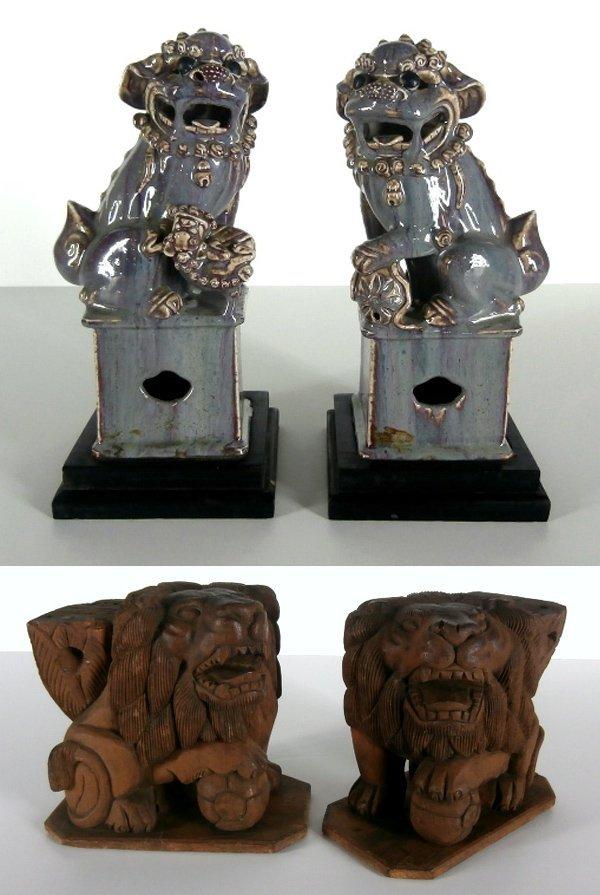 Asian Foo Dogs & Burmese Foo Lions (19th/ 20th Century)