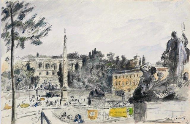 Michele Cascella (1892-1989) Italian/ Californian