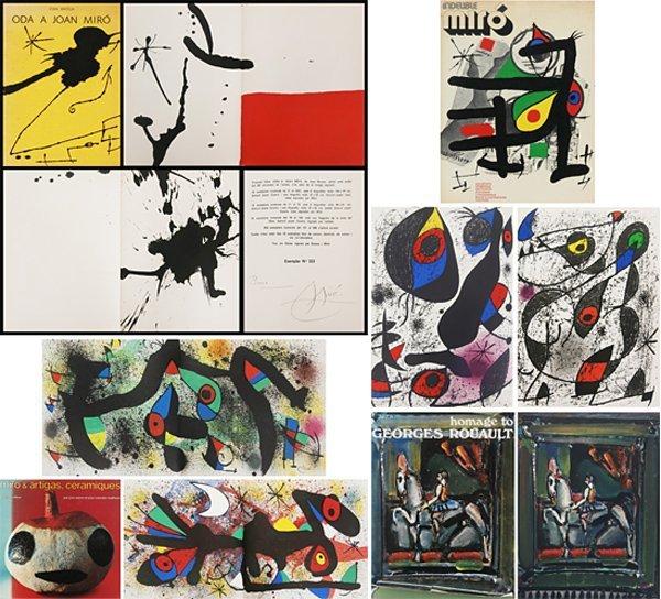 Art Books: Miro (3), Rouault (four)