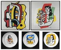 after Fernand Leger (1881-1955) French (five)