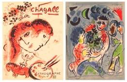 70 Book Marc Chagall with lithographs