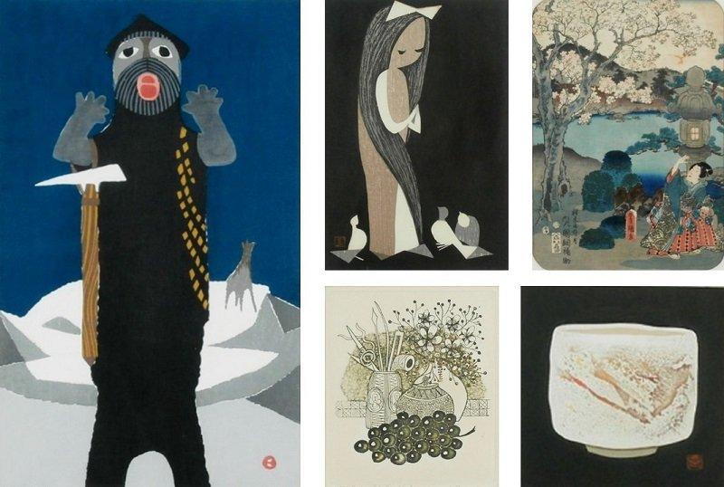 Umetaro Azechi  (1902-1999) Japanese  Kaoru Kawano