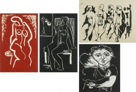 Hans Burkhardt (1904-1994) Swiss Californian (four)