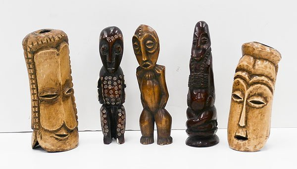 African Carvings (five)