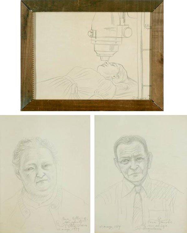 Raul Anguiano (1915-2006) Mexican (three)