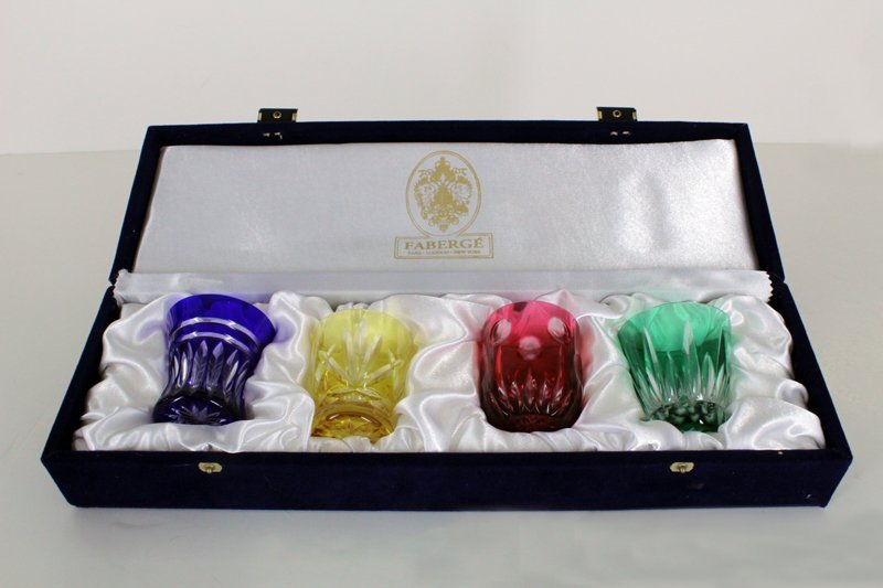 Faberge glass set