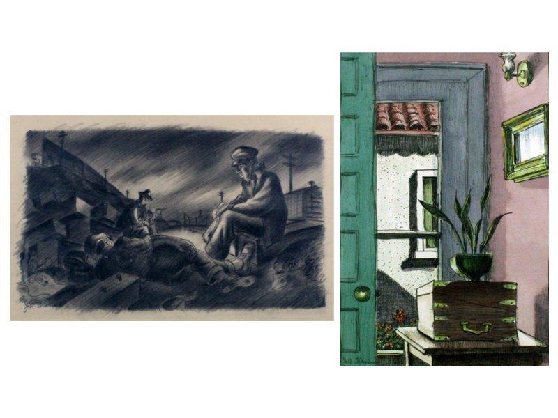 James Sherman (1906-1989) Kansas City/New York (two)