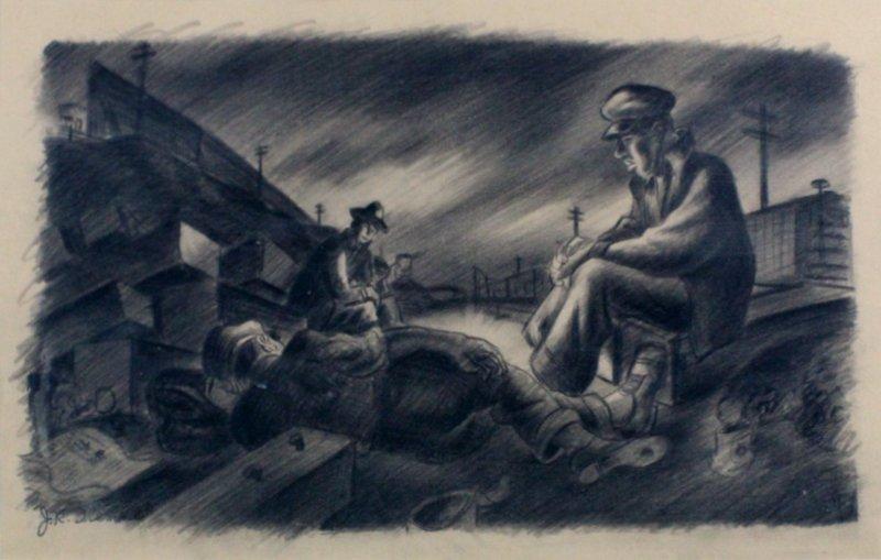 James Sherman (1906-1989) Kansas City/New York (two) - 2
